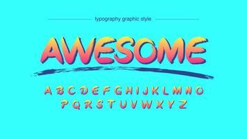 orange Graffiti Typografie vektor
