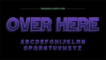 lila 3d Großbuchstaben Typografie Design