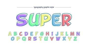 färgglada pastell tecknad typografi