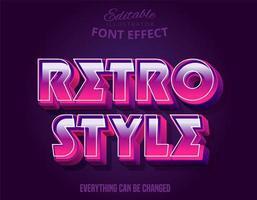 Effekt för stilstark rosa färg i retro stil vektor