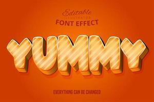 leckerer orange bearbeitbarer Schrifteffekt