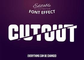 Text ausschneiden, bearbeitbarer Schrifteffekt vektor