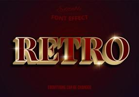 retro rött och guld redigerbart teckensnitt