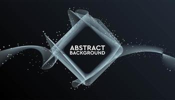 schwarzes und graues abstraktes geometrisches quadratisches Banner