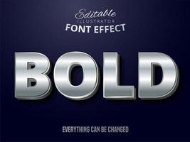 silver redigerbar text effekt
