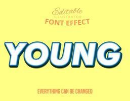 unga färgglada redigerbara typsnitt vektor