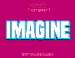 föreställ dig text, redigerbart teckensnitt