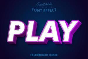 spela text redigerbart typsnitt vektor