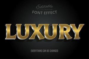 Luxus Gold Text Effekt mit Silber Extrudieren