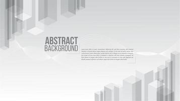 grå och vit design med 3d rektangelmönster vektor