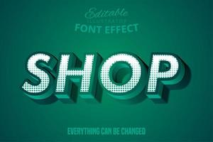 grön butik text effekt