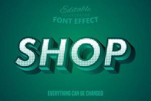 grüner Shop-Texteffekt vektor