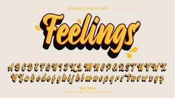 modernes gelbes kühnes Kalligraphiedesign
