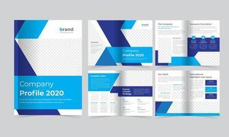blaue Corporate Look Book Vorlage vektor