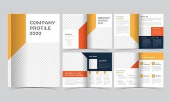 orange und blaue Unternehmensbroschürenvorlage