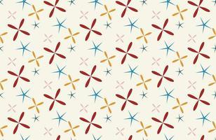 stjärna sömlösa geometriska mönster vektor