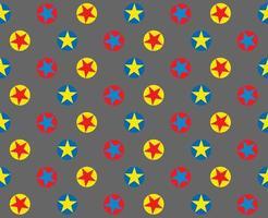 ljus cirkel stjärna mönster på grått vektor