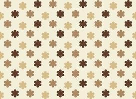 bruna sömlösa blommönster vektor