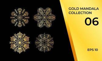dekorativa arabiska eller asiatiska mandala tatuering set