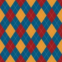 sömlösa blå röda argyle mönster vektor