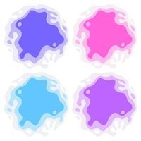 abstrakte ausgeschnittene Papierfarbe Spritzkreise