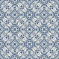 geometrisches blaues und weißes Muster vektor