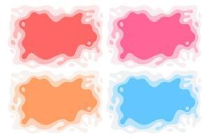 abstrakt färgstänk pappersutskärning uppsättning