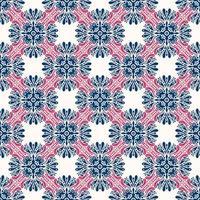 geometriska blå, vita och rosa mönster vektor