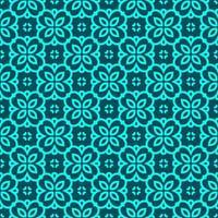 turkos och kricka geometriska mönster vektor