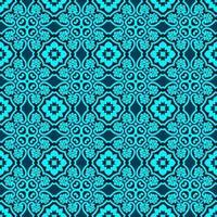 geometrisches Muster in Türkis und Dunkelblau vektor