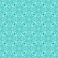 aqua med kricka detaljer geometriska mönster vektor