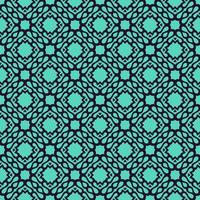 geometrisches Muster in Marine und Türkis vektor