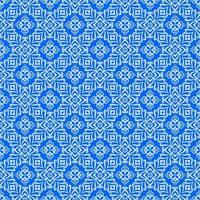 blau mit hellblauen Details geometrisches Muster vektor