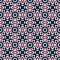 marinblå och rosa geometriska mönster vektor