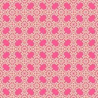 rosa och persika geometriska mönster vektor