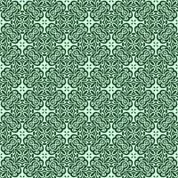 havsgrön och kricka geometriska mönster vektor
