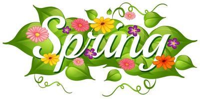 Frühlingsnaturblumenhintergrund vektor