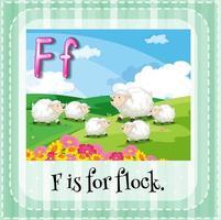 Karteikarte des Buchstabens f vektor