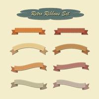 Sammlung von Bändern im Retro-Vintage-Stil vektor