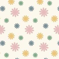 nahtloses geometrisches Blumenmuster