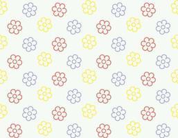 nahtloses Blumenblüten-Umrissmuster