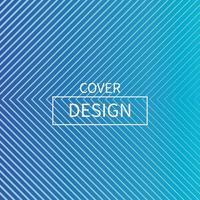 minimal blå triangel linje form täcka design