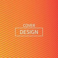 minimal orange linje täckning design