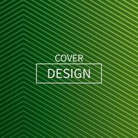 grön linje minimal täckning design
