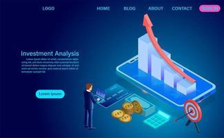 Investitionsanalysekonzept vektor