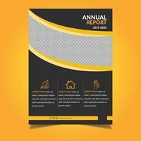 gelbe und schwarze Flyer-Vorlage für Unternehmenszentrale