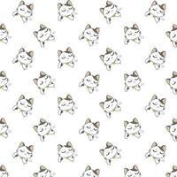 tecknade olyckliga katter mönster vektor