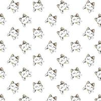 Cartoon unglückliche Katzen Muster vektor