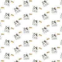 tecknade katter som tänker på fiskmönster vektor
