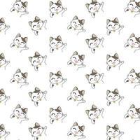 tecknade katter viftande tass vektor